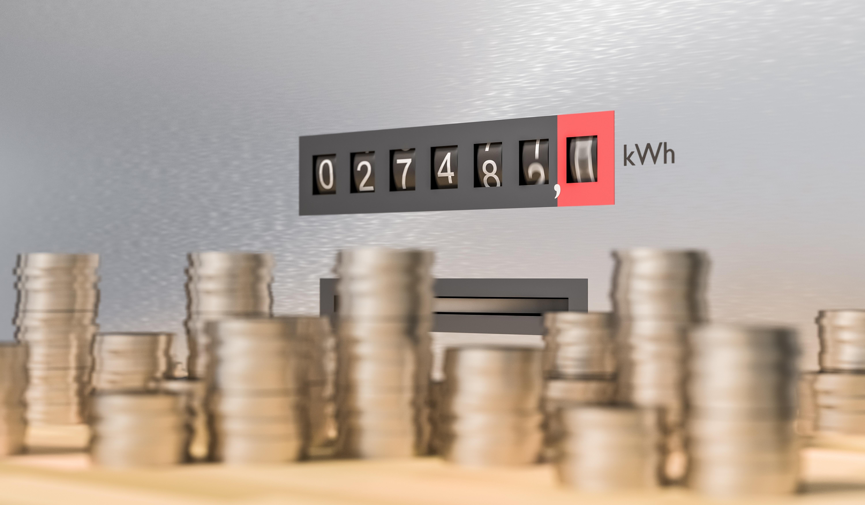 spar strøm med kroneautomat i stua